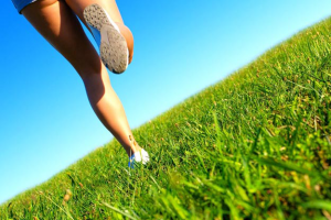 running on different surfaces Grass