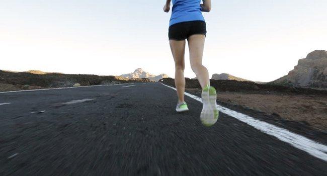 women Running on asphalt