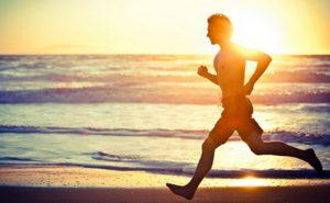 Man Running on sand